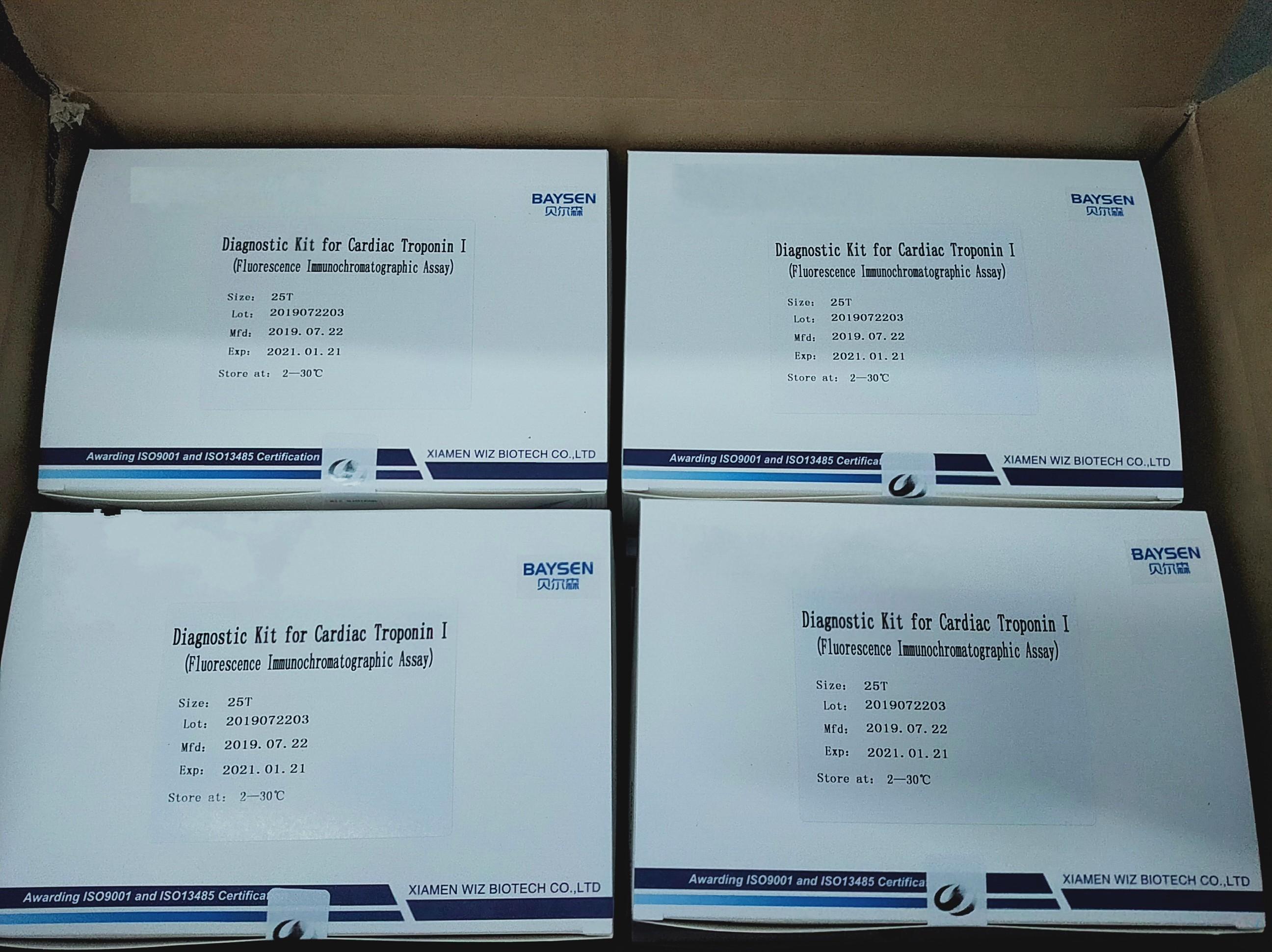 Diagnostic kit for Cardiac Troponin I (cTnl)