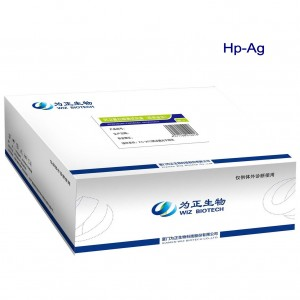 Helicobacter pylori Antigen uchun diagnostik Kit (Flüoresan immünokromatografi Assay)