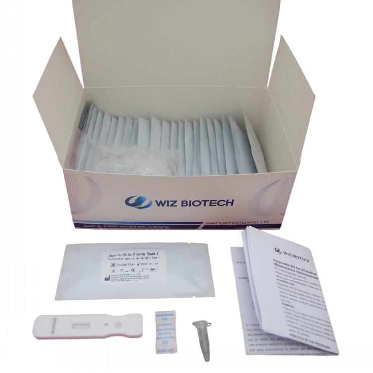 Kit de diagnóstico para 25-hidroxi-vitamina D (fluorescência ensaio imunocromatográfico) Apresentado Imagem